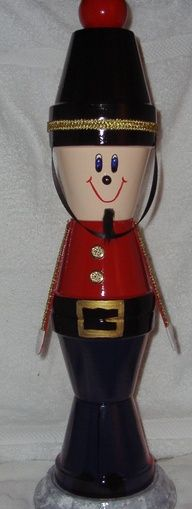 clay pot craft soldier | Clay Pot Crafts