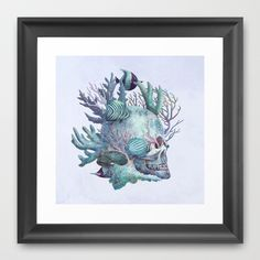 """Full Fathom Five"" Framed Art Print by Terry Fan on Society6."