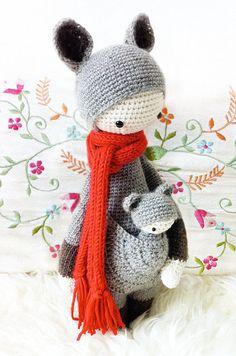 Crochet Pattern Doll KIRA the kangaroo PDF by lalylala on Etsy, €5.50