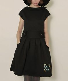 Take a look at this Black Piopio Meyer Dress by Titis Clothing on #zulily today!