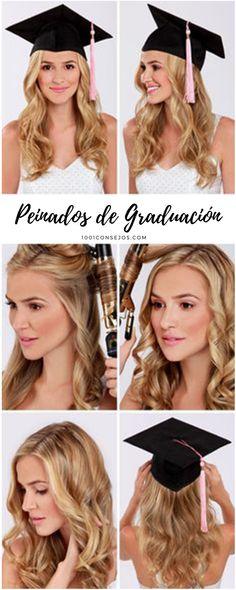 Luce perfecta en el día de tu graduación con estos peinados.   graduación peinados   peinados de fiesta suelto   peinados para graduacion sueltos ondas   #peinados #graduacion