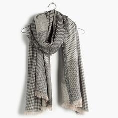 Madewell - Houndstooth Patchwork Scarf