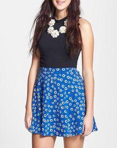 Trending - floral skater skirt