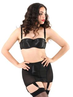 82a220324b What Katie Did new Glamour Girdle with 6 suspenders. Worn with our Glamour  Underwired Bra