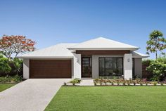 At Plantation Homes, we will look after you from start to finish. Visit our extensive array of display homes & Villages om Brisbane & QLD. House Layout Plans, House Layouts, Facade House, House Facades, House Exteriors, Facade Design, House Design, Rendered Houses, Modern Bungalow