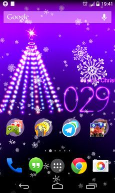 this christmas countdown 2016 live wallpaper have a christmas scene with a christmas countdown in a snowfall of lights and with music