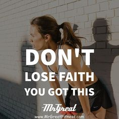 Don't lose faith. You got this.