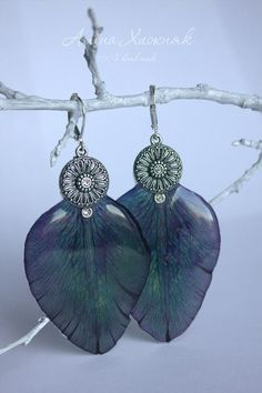 Фотография Resin Jewelry, Handmade Jewelry, Uv Resin, Resin Crafts, Epoxy, Fused Glass, Resins, Drop Earrings, Jewels
