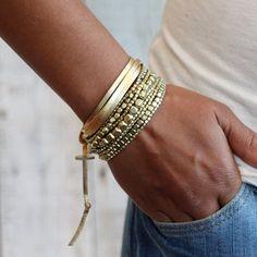 Liquid Bead Bracelet GoldGold BraceletBracelet by PreshStudio