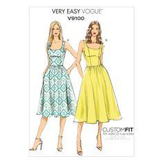 V9100 Misses' Dress | Very Easy Vogue Custom Fit