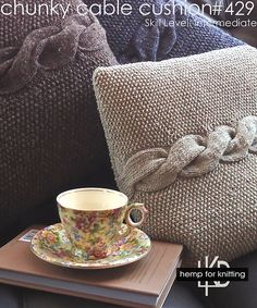 Ravelry: Chunky Cable Cushion pattern by Lana Hames