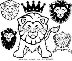 stock-vector-lion-head-designs-isolated-on-white-background-in-vector-format-very-easy-to-edit-individual-137960066.jpg (450×382)