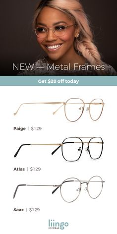Shop new and stylish metal frames for a one-of-a-kind look. Oh, and you can try on before you buy. Oprah Glasses, Fake Glasses, Glasses Frames, Round Lens Sunglasses, Cat Eye Sunglasses, Sunglasses Women, Fashion Eye Glasses, Metal Frames, Eyeglasses For Women