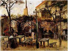 Vincent Van Gogh - La guinguette à Montmartre Huile sur toile