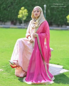 Hajib Fashion, Hijab Wedding Dresses, Peach, Eid, Outfits, Beautiful, Style, Instagram, Swag