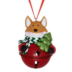 Buy John Lewis Jingle Bell Fox Decoration Online at johnlewis.com