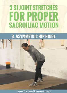 Stuck feeling in the SI joint? Add these 3 SI joint stretches to your routine to improve sacroiliac motion and get your SI joint back in line: www. Si Joint Pain, Hip Pain, Back Pain, Sacroiliac Joint Dysfunction, Hip Workout, Workouts, Psoas Release, Rheumatoid Arthritis Treatment, Psoas Muscle