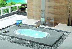 You can have a sunken tub placed in other spaces as well if you find the décor relaxing