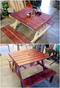 Things You Can Make with Recycled Wood Pallets - Wooden Pallet Ideas Wood Pallet Tables, Pallet Patio Furniture, Pallet Chair, Furniture Decor, Old Pallets, Wooden Pallets, Pallet Counter, Tv Stand Furniture, Pallet Projects