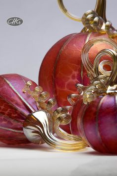 Really gorgeous glass pumpkins from C Glassworks, if you're looking for such a thing!