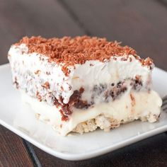Sex in a Pan – crazy name for a dessert, but it's one of the best desserts you'll ever have, it's mostly a pudding dessert with a crunchy pecan bottom crust.