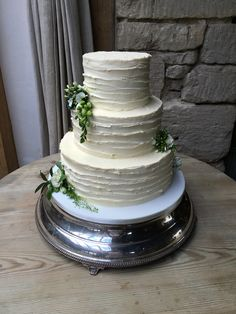 #Buttercream #wedding #cake at Cripps Barn, Cotswolds