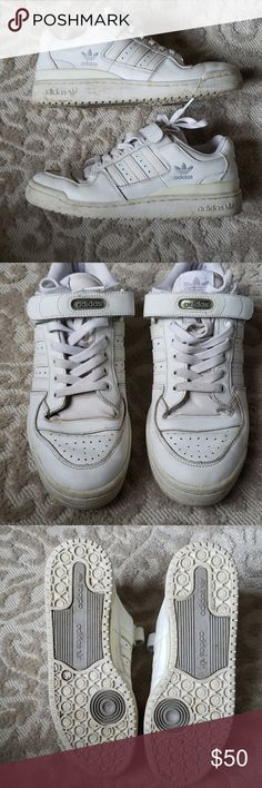 promo code a1338 bcadd Vintage Adidas Forums from 2002 Size 9 1 2 U.S. Adidas Forums white some  discoloration