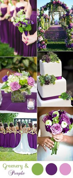 gorgeous purple and green spring and summer wedding colors