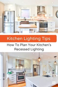 Want to create a great kitchen design? Get recessed lighting! Check our full guide about this type of lighting here. Bathroom Recessed Lighting, Installing Recessed Lighting, Kitchen Lighting Fixtures, Dining Room Lighting, Kitchen Renovation Cost, Kitchen Remodel Cost, Kitchen Layout, Kitchen Design, Kitchen Ideas