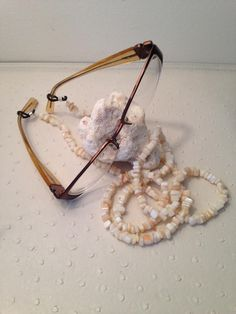 Genuine Mother of Pearl Eyeglass/sunglass chain #Mother of Pearl #genuine pearl #handcrafted #one-of-a-kind by Expressionsgems on Etsy