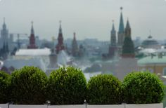 Without a doubt the best view of the Kremlin - the Ritz's  O2 Lounge terrace overlooks the Red Square and is a great place for a sundowner.