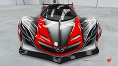 Red + grey Mazda Furai