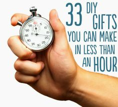 33 DIY Gifts You Can Make In Less Than 1 Hour