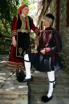 Macedonian Costume # Workshop of traditional costumes of Nicholas and Peter… Greek Traditional Dress, Traditional Fashion, Traditional Outfits, Dance Outfits, Cute Outfits, Greek Dancing, European Costumes, Macedonia Greece, Ukraine