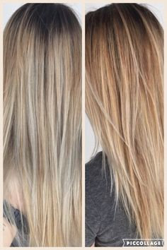 Brunette with blonde balayage/ombré