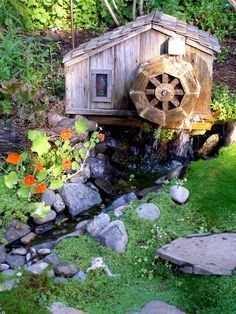 Wooden Water Wheel Plans for your Garden Pond or Flower Garden ...