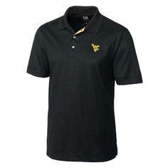 WVU Cutter & Buck Blitz Luxe Polo in Black