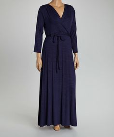 This Navy Surplice Maxi Dress - Plus is perfect! #zulilyfinds