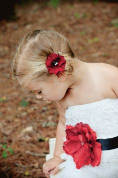 Flower Hair ClipBaby Girl Hair by AvryCoutureCreations on Etsy, $7.95 Cute.idea for flower girl