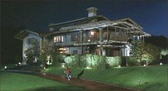 """Gamble House - """"Back to the Future"""" - Pasadena, CA - Movie Locations on Waymarking.com. Michael j. Fox in foreground"""