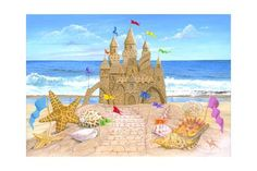 Sand Castle Prints by Scott Westmoreland - AllPosters.ca
