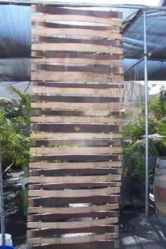 Barrel Stave Wall Whiskey Barrel Decor, Wine Barrel Wall, Wine Barrel Crafts, Bourbon Barrel, Wine Barrel Lazy Susan, Barris, Barrel Projects, Wine Barrel Furniture, Wine Display