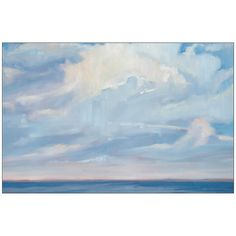 A bright blue sky with fluffy clouds is one of natures most happy sights. Here its captured forever on gallery-quality canvas to hang anywhere you want a bit of summer in your space.  • Shipping times and return policies may vary by product. Please see our shipping and returns policy for more information.  • We apologize, this item is excluded from promotional discounts. Please see our exclusions policy for more information.