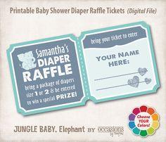 Baby Shower Diaper Raffle Tickets Digital by OccasionsByMarjae, $6.00