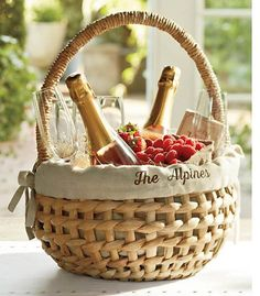 Wine fruit gift basket idea great for clients and to say thank 3 gift the gift of champagneraspberries live just down the negle Image collections