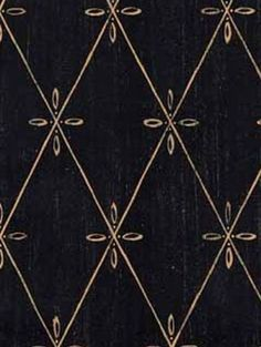 WALLPAPER - Distressed Tuscan Diamond Lattice on Black Country French