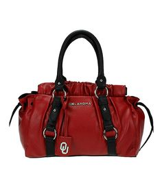 Look at this Oklahoma Sooners Gathered Shoulder Bag on #zulily today!