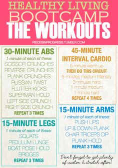 Healthy Living Bootcamp Workouts