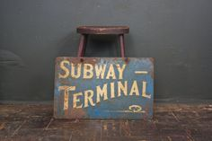 1920s West Hollywood Subway Terminal Sign  / Gardner St by sevenbc, $875.00