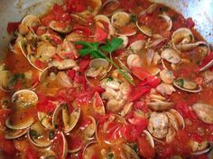 #pasta #vongole #pomodorini
